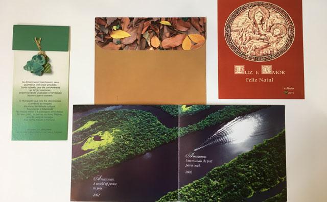 Exposições de pratos artísticos e cartões celebram o Natal