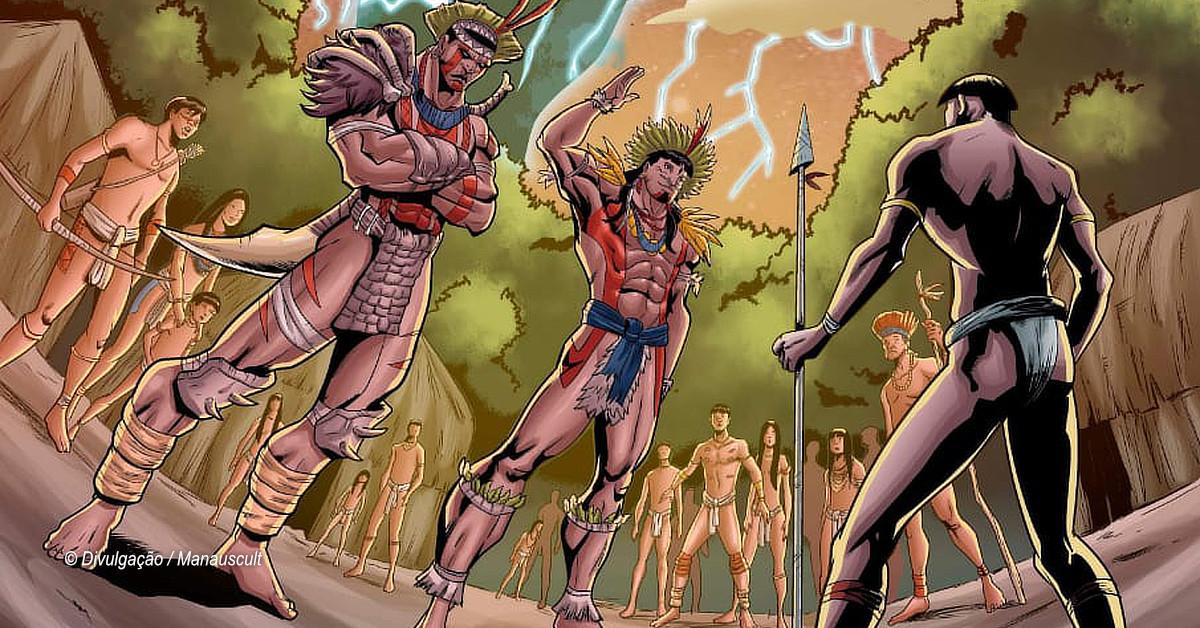 História em quadrinhos transforma figuras mitológicas amazônicas em guardiões da floresta