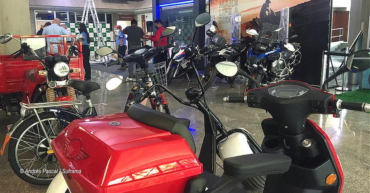 Exposição gratuita de motos e bicicletas do PIM vai até quinta na Suframa