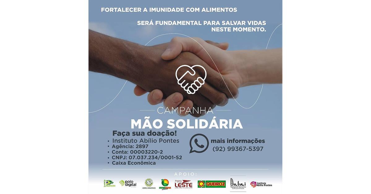 Campanha Mão Solidária começa doar alimentos para famílias vulneráveis