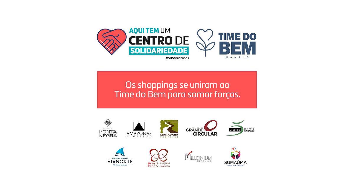 Shoppings em Manaus se unem ao Time do Bem para ajudar profissionais