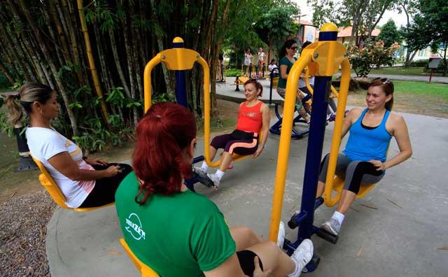 Atividades físicas gratuitas no Parque Ponte dos Bilhares