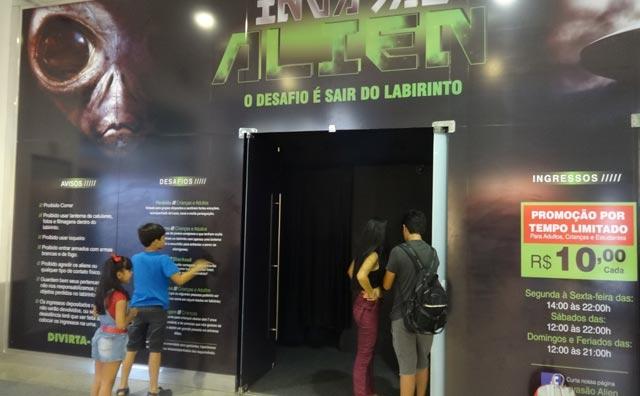 Invasão Alien no Amazonas Shopping