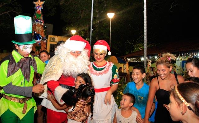 Chegada do Papai Noel abre a programação de Natal