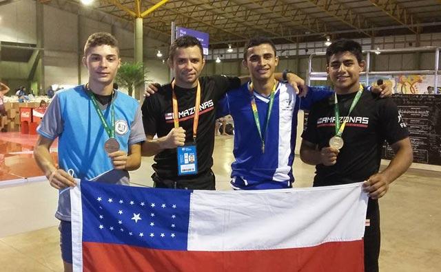 Luta olímpica do Amazonas conquista dois ouros e um bronze