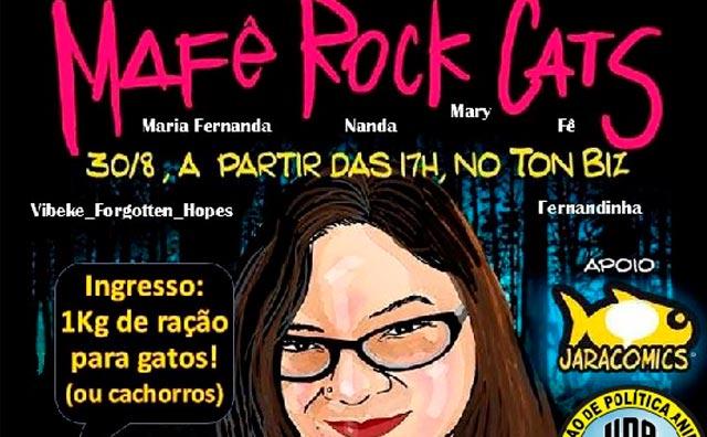 Música, doação e saudade dão o tom ao Mafê Rock & Cats