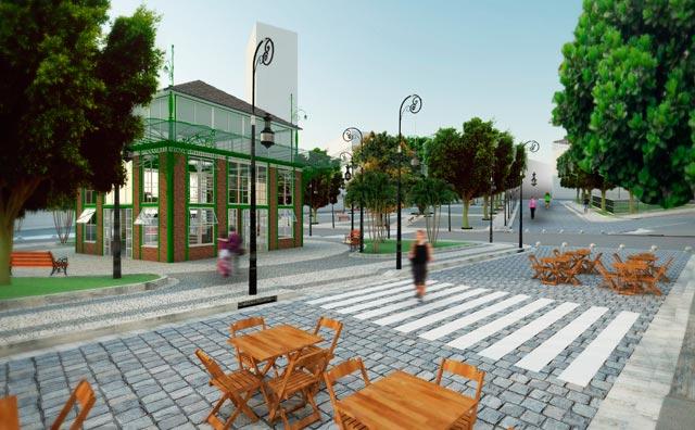 Praça Tenreiro Aranha terá aspectos originais de 1920