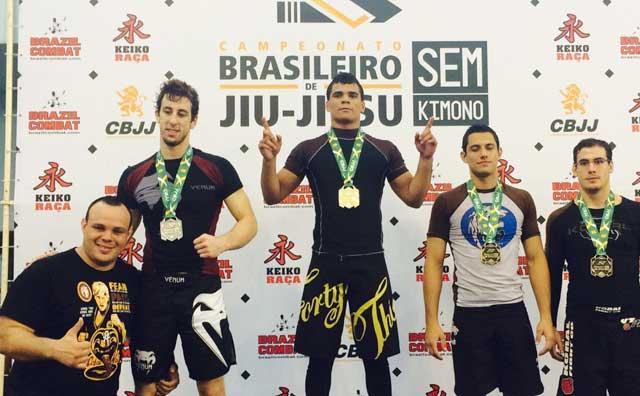 Rudson Mateus conquista Brasileiro de Jiu-Jítsu Sem Kimono no RJ