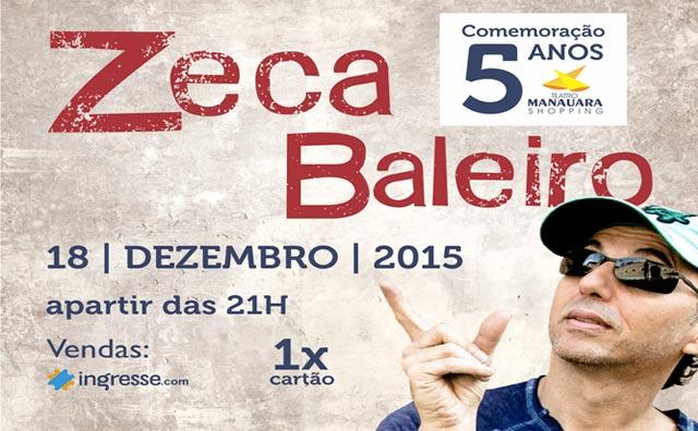 Zeca Baleiro faz show em comemoração ao aniversário do Teatro Manauara